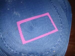 Pink foam rectangle