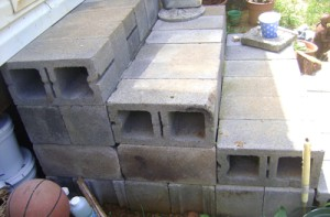 Make Steps From Cinder Blocks