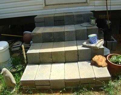 Make Steps From Cinder Blocks