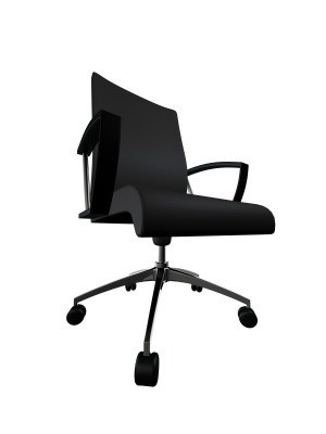 Office Chair on White Background