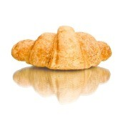 Crescent Roll on White Background