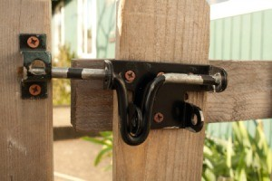 Old Gate Latch to be Removed