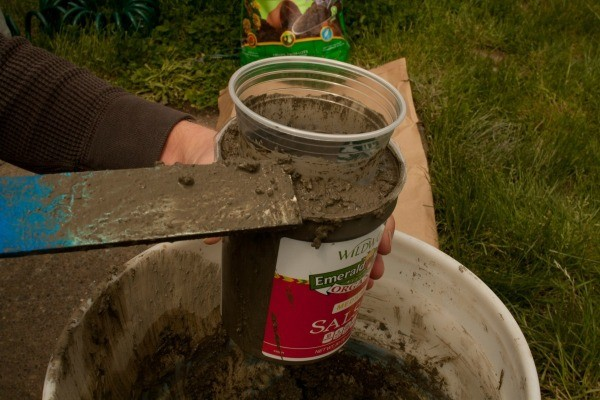 Topping off Hypertufa Concrete