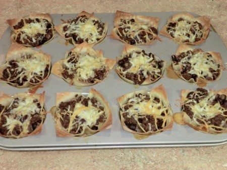 Baked Muffin Tin Tacos