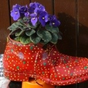 Colorful Boot Planter
