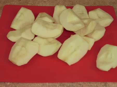 Cut and Peeled Apples