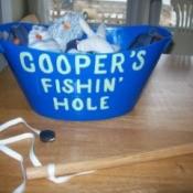 Homemade Magnetic Fishing Game