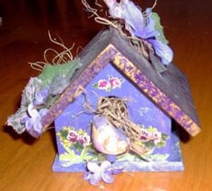 Mini birdhouse wedding shower favor