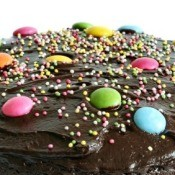 Decorated Chocolate Cake