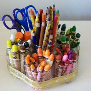 craft project recycled crayon holder thriftyfun
