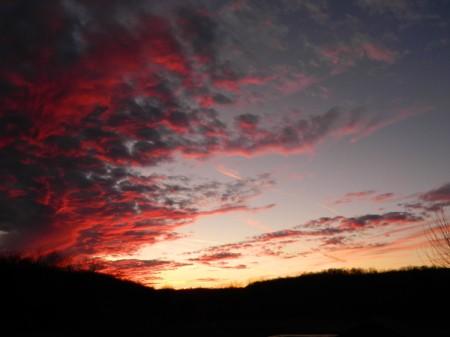 Sunset in Loretto, TN