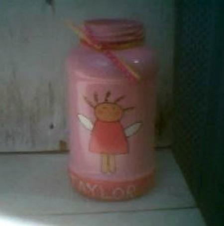 Girl Bank from Mayo Jar