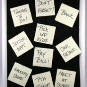 Sticky Notes With Chores on Board