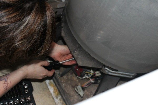 Remove screws holding motor in place