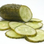 Dill Pickle on White Background