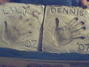 Lily and Dennis's stones.