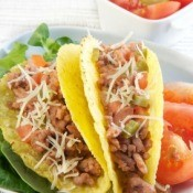 Homemade Tacos on a Plate