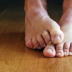Stinky Feet on Hardwood Floor