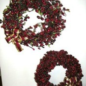 Two red berry wreaths.