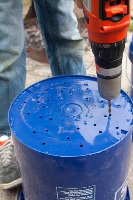 Drilling Holes in Bottom of 5 Gallon Bucket