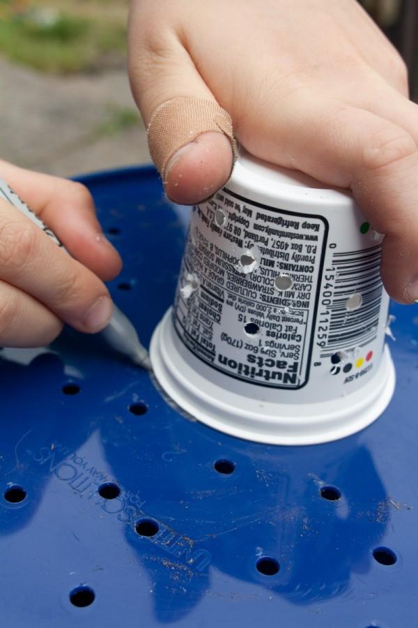 Marking Bottom of Bucket
