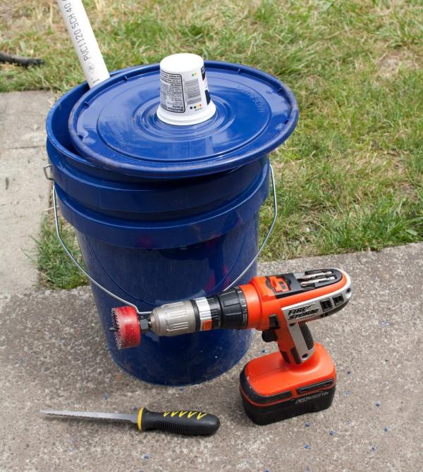 Supplies for Making Self Watering Basil Planter