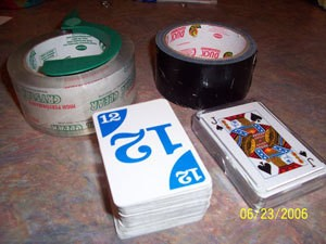 Playing Cards and Tape