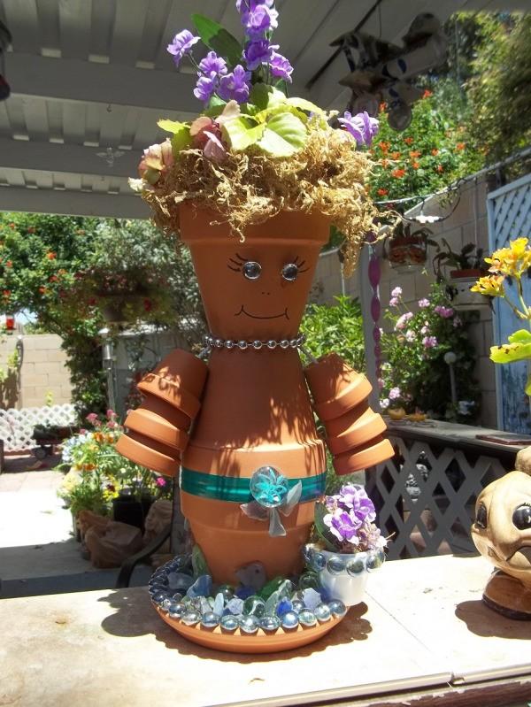how to make a flower pot man