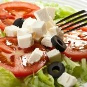 Feta Salad with Fork