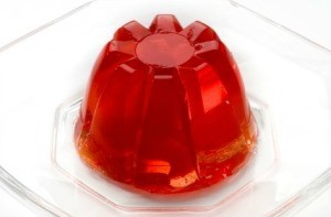 Red Jello on White Plate