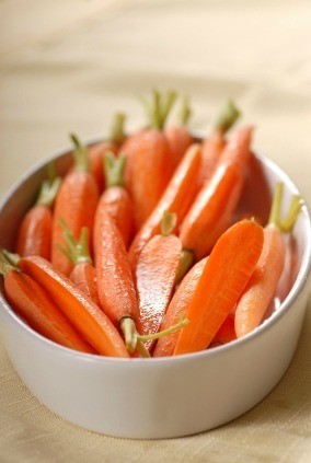 Glazed Carrots in White Dish