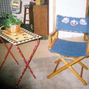 Salvage Chair and TV Tray