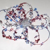 Flower shaped decoration for the 4th of July.