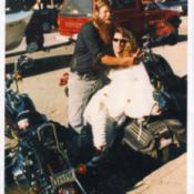 Biker Wedding Photo
