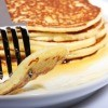 A stack of pancakes.
