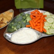 Tzatziki Dip With Veggies and Pi