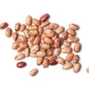 Pinto Beans on White Background