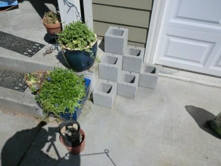Cinder Block Step Planter - third row