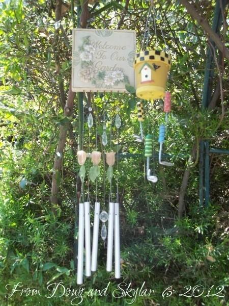 Windchime for Path Garden gate.