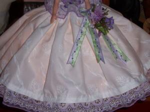 Close up of dress detail.