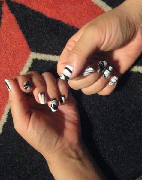 Marbled Nail Art Thriftyfun