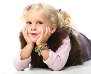 School photo of a blond girl.