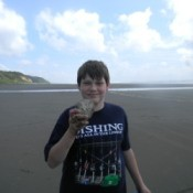 Finding Sand Dollars (Copalis Beach, WA)