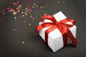 Birthday Present with Glitter