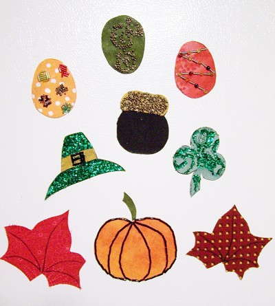 making seasonal refrigerator magnets thriftyfun