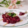Beet Salad with Mustard Garnish