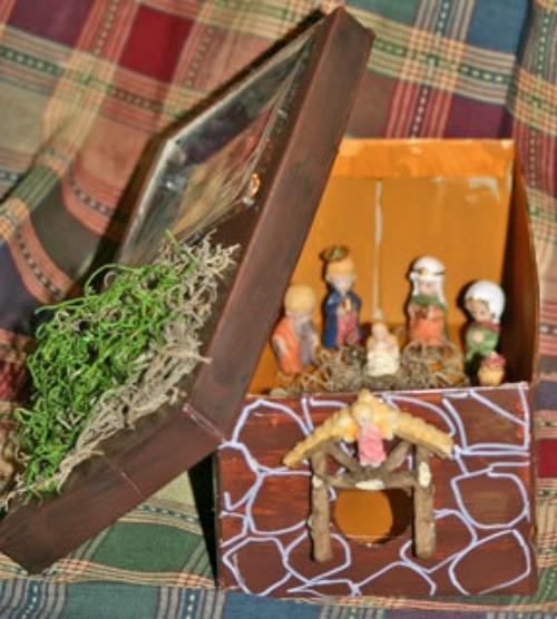 Christmas Shoebox Diorama.Nativity Scene Craft Ideas Thriftyfun