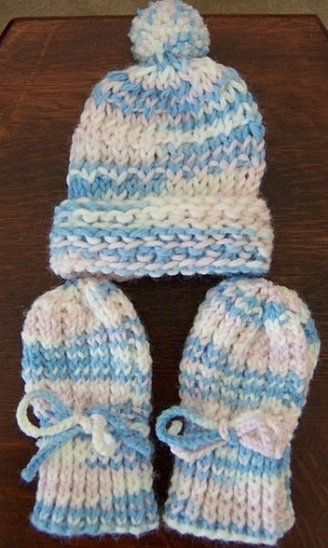 Knitted Infant Thumbless Mittens Thriftyfun