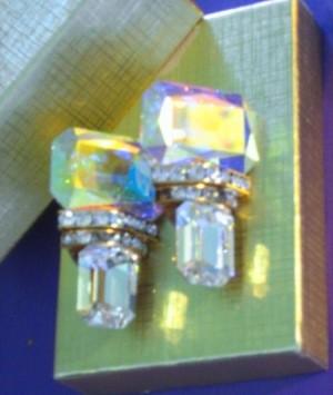 Cubic zirconia earrings.