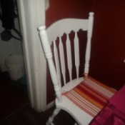 Painted chair with new pad.